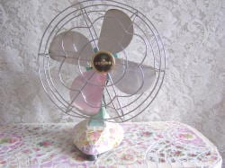 antique fan for decorating