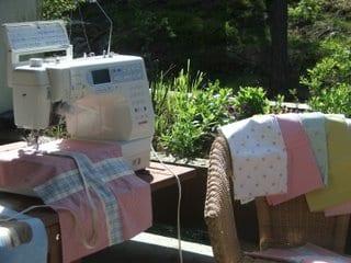 sewing machine set up