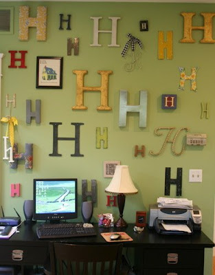 how to do a monogram wall