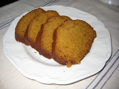 pumpkin bread for fall