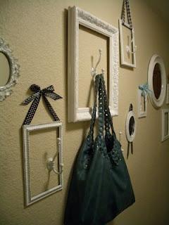 wall decor empty frames