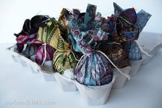 eggs dyed silk ties