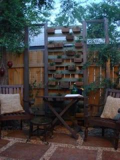 diy backyard planter box wall