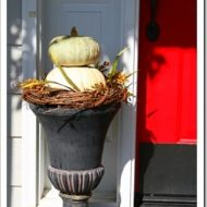 Fall Porch - How to make a pumpkin topiary