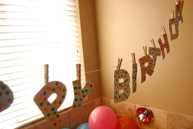 Creative birthday banner