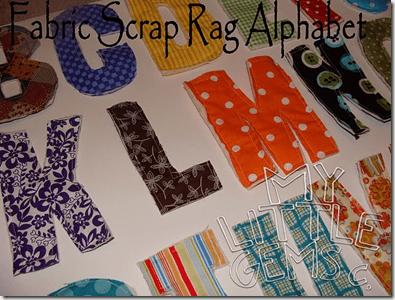 scrap rag alphabet