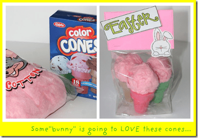 Easter Gift cotton candy cones