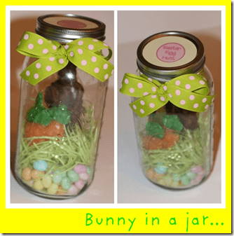 easter basket in a Jar