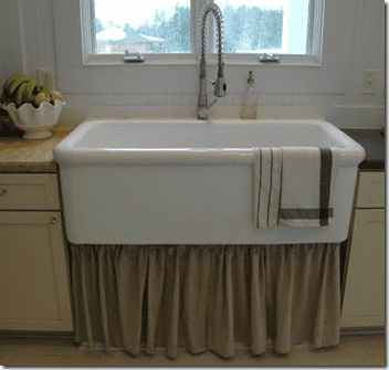 white farm sink