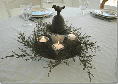 farm house style table decoration