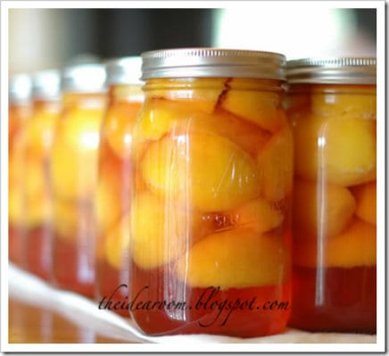 canning peaches for summer