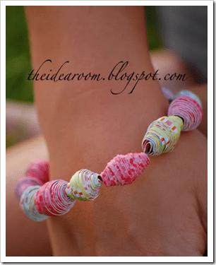 how to make a paper bracelet summer craft