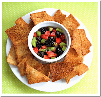 cinnamon chips and fruit for summer