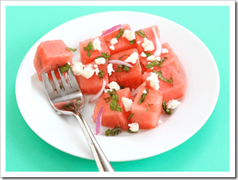 Watermelon salad for summer