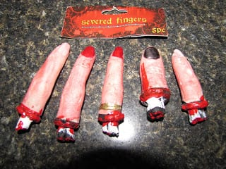 severed fingers for halloween decorating