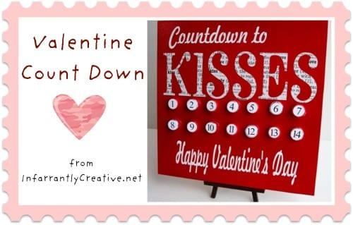 Valentine count down - From InfarrantlyCreative.net