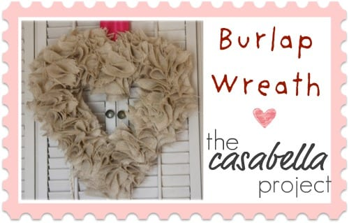 Burlap Heart Wreath - By the Casabella Project