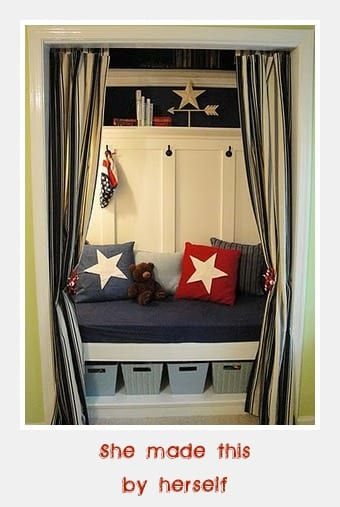 After- closet reading nook