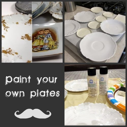 diy craft painting plates