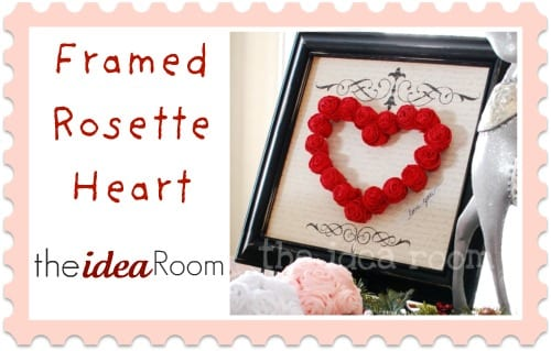 Framed Rosette Heart - by theideaRoom