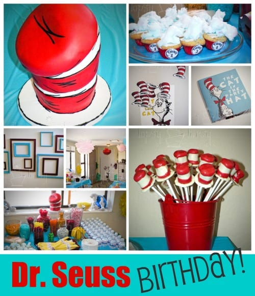 Dr. Seuss birthday party cake- fondant cake