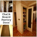 chalkboard pantry door