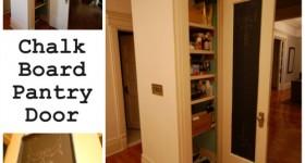 chalkboard pantry door