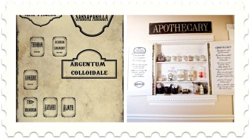 DIY apothecary jars and labels