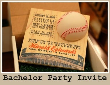 bachelor party invitation ideas