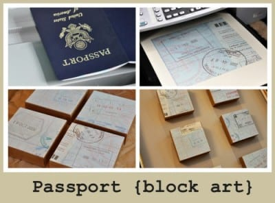 block art using old documents