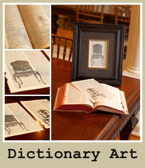DIY dictionary wall art