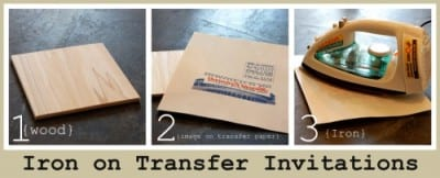 iron on transfer invitations