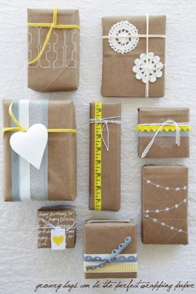 Kraft paper wrapping ideas