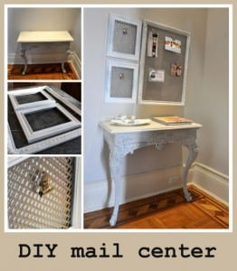 DIY mail center
