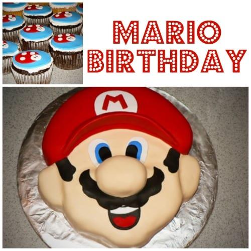mario bros. party cake - fondant cake