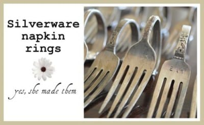 flatware stamped napkin rings