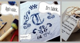 how to make a stencil on fabric