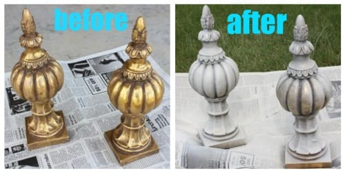 spray painted thrift items