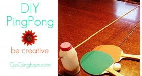 make your own ping pong table