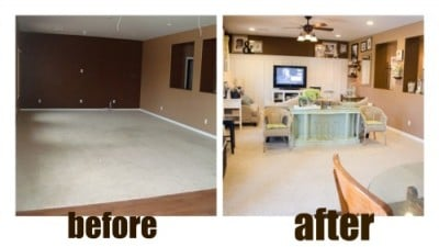 decorating before & after