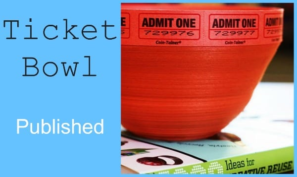bowl made from tickets
