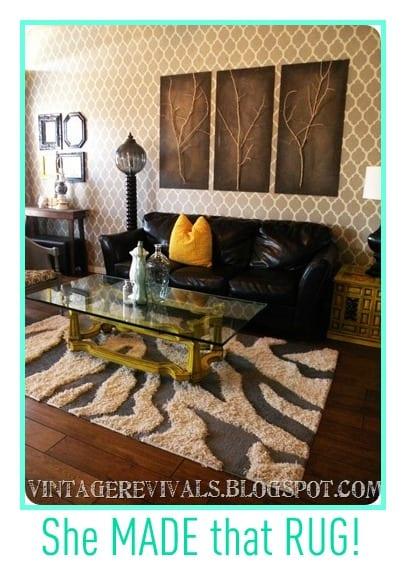 zebra DIY rug