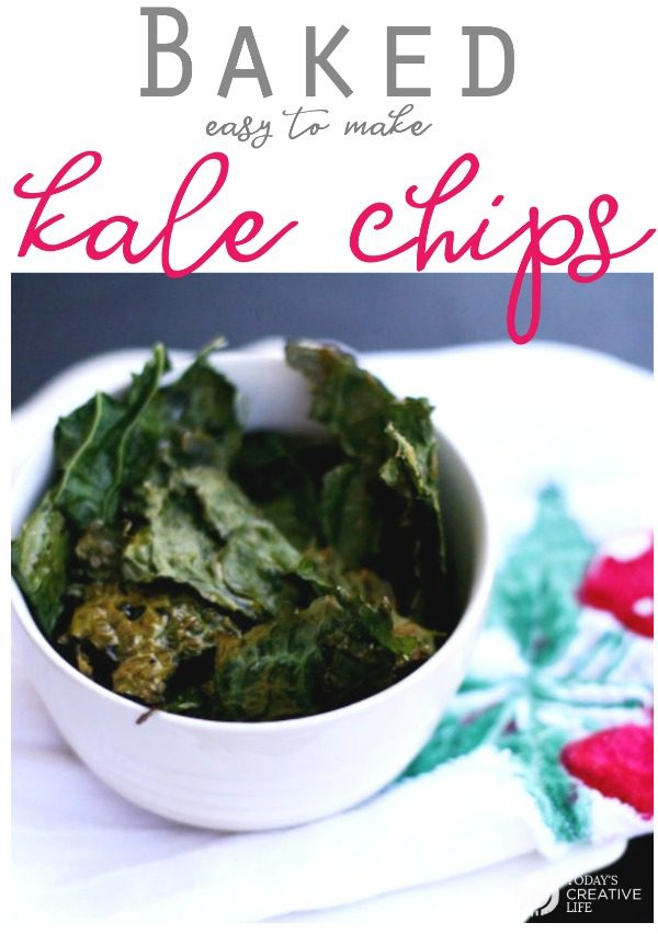 easy to make Kale Chips recipe | Baked Kale Chips or Crisps. Superfood snack ideas | TodaysCreativeLife.com