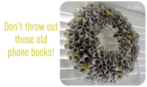 Phone book recycled projects