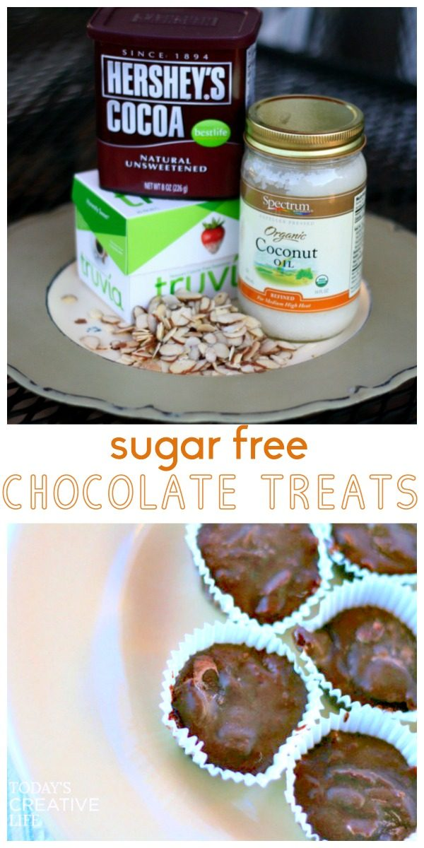 Chocolate Truffle Recipe | Coconut Oil Chocolate sugar free truffles and treats. Healthy, clean eating recipe. Find it on TodaysCreativeLife.com