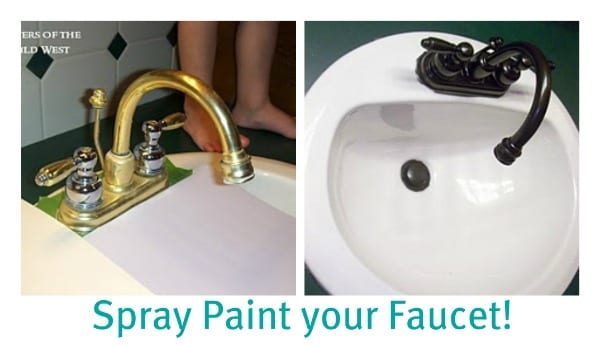 spray paint brass faucets