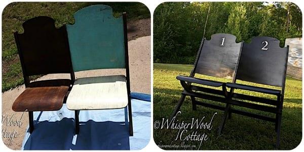painted furniture vintage seating