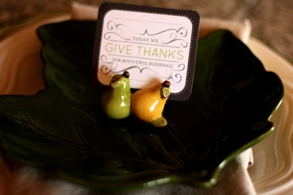 Thanksgiving Table Place Cards | Free Printables on Today's Creative Life