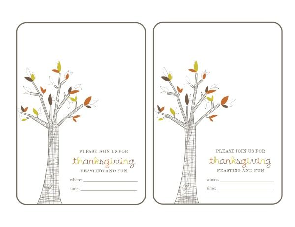 Thanksgiving Printable for TCL