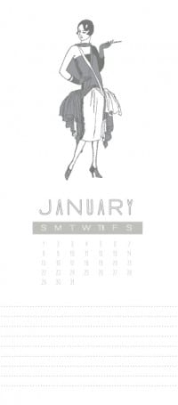 fashionable 2012 calendar